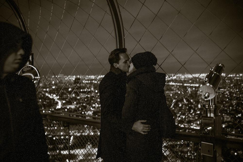 Top deck, Eiffel Tower. Paris, France. November 24, 2013. Photograph ©2013 Darren Carroll