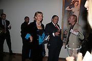 Barry Humphries and Lizzie Spender, ' Show Off' Theo Fennell exhibition co-hosted wit Vanity Fair. Royal Academy. Burlington Gdns. London. 27 September 2007. -DO NOT ARCHIVE-© Copyright Photograph by Dafydd Jones. 248 Clapham Rd. London SW9 0PZ. Tel 0207 820 0771. www.dafjones.com.