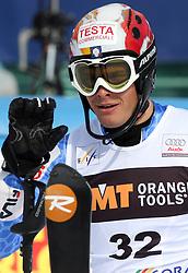 Christof Innerhofer at 9th men's slalom race of Audi FIS Ski World Cup, Pokal Vitranc,  in Podkoren, Kranjska Gora, Slovenia, on March 1, 2009. (Photo by Vid Ponikvar / Sportida)