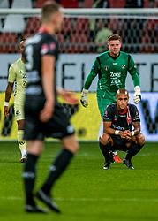 27-09-2018 NED: FC Utrecht - MVV Maastricht, Utrecht<br /> First round Dutch Cup stadium Nieuw Galgenwaard / Anthony van den Hurk #9 of MVV, David Jensen #1 of FC Utrecht
