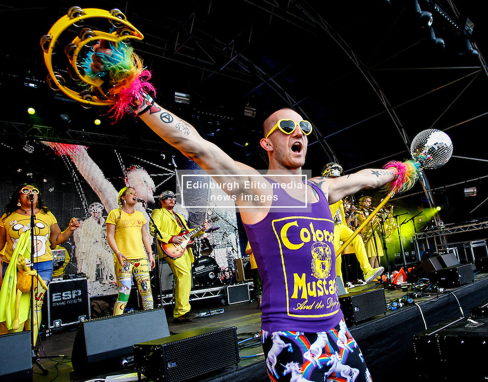 Pictured: Scottish sensations Colonel Mustard and the Dijon 5 get teh party swinging in front of a sell out 9000 crowd at Party at the Palace in Linlithgow close to historic Linlithgow Palace . Andrew West/ EEm