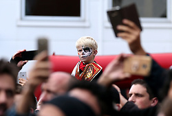 Bournemouth fans wearing halloween fancy dress during the Premier League match at the Vitality Stadium, Bournemouth.