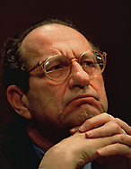 John Deutch director of the CIA testifying before the Senate Intelligence Committee on February 22 1996<br />Photo by Dennis Brack