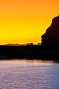 Indian Head Rock At Sunset In Dana Point Harbor