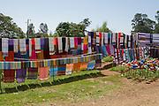 Handicrafts on display at Chencha, a Dorze village in Omo Valley, Ethiopia