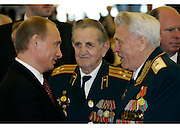 Moscow, Russia, 09/05/2005..Formal reception in the Kremlin hiosted by Russian President Vladimir Putin and wife Ludmilla on the 60th anniversary of victory in the Great Patriotic War.