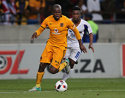 Willard Katsande (c) of Kaizer Chiefs (L) and Buyani Sali of Chippa United during the 2016 Premier Soccer League match between Chippa United and Kaizer Chiefs held at the Nelson Mandela Bay Stadium in Port Elizabeth, South Africa on the 3rd December 2016.<br /> <br /> Photo by:   Richard Huggard / Real Time Images