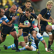 Chris Paterson, Scotland, in action during the Argentina V Scotland, Pool B match at the IRB Rugby World Cup tournament. Wellington Regional Stadium, Wellington, New Zealand, 25th September 2011. Photo Tim Clayton...