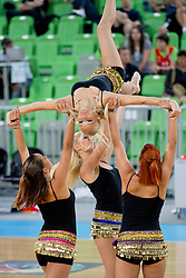 Cheerleaders during basketball match between National teams of Serbia and Spain in for third place match of U20 Men European Championship Slovenia 2012, on July 22, 2012 in SRC Stozice, Ljubljana, Slovenia. Spain defeated Serbia 67:66. (Photo by Matic Klansek Velej / Sportida.com)