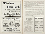 All Ireland Senior Hurling Championship Final,.Brochures,.05.09.1948, 09.05.1948, 5th September 1948, .Waterford 6-7, Dublin 4-2, .Minor Kilkenny v Waterford, .Senior Dublin v Waterford, .Croke Park, ..Advertisements, Madame Nora Ltd. Lingerie Blouses Hosiery and Golve Specialists, McDowell's The Happy Ring House, G.A.A. Specialist Dan Hobbs, ..Songs, Dan Mairseala Na nGaedeal,