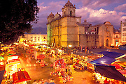 MEXICO, COLONIAL CITIES Oaxaca; Cathedral on Alameda Park
