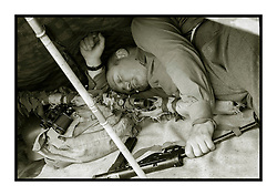 """Hull Veterans Weekend Les has a cheeky nap on Sunday until MOPs give him away asking questions like """"is he dead"""" <br /> Wallace the anti sleep hound soon put paid to that cat nap.. <br /> <br /> 25-26 July 2015<br />  Image © Paul David Drabble <br />  www.pauldaviddrabble.co.uk"""