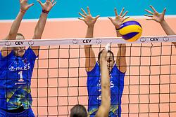 22-08-2017 NED: World Qualifications Slovenia - Bulgaria, Rotterdam<br /> Bulgaria win 3-1 against Slovenia / Tina Grudina #21 of Slovenia, Eva Mori #1 of Slovenia<br /> Photo by Ronald Hoogendoorn / Sportida