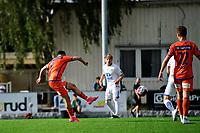 Fotball , Eliteserien<br /> 12.07.2021 , 20210712<br /> Grorud - Aalesund<br /> Aalesunds Niklas Fernando Nygaard Castro scorer målet til 1-0 <br /> Foto: Sjur Stølen / Digitalsport