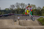 #215 (SIVIRA Jholman) VEN at the 2016 UCI BMX Supercross World Cup in Papendal, The Netherlands.