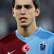 Trabzonspor's Ceyhun GULSELAM during their Turkey Cup Group B matchday 5 soccer match Besiktas between Trabzonspor at the Inonu stadium in Istanbul Turkey on Wednesday 26 January 2011. Photo by TURKPIX