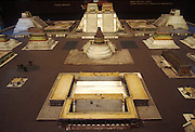 MEXICO, MUSEUM OF MEXICO CITY Model of Main Temple complex of Aztec capital of Tenochtitlan now Mexico City