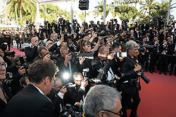 Photographers attending the premiere of the film Les Filles du Soleil during the 71st Cannes Film Festival in Cannes, France on May 12, 2018. Photo by Julien Zannoni/APS-Medias/ABACAPRESS.COM