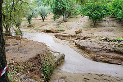 Italy,San Pietro a Maida /  Lamezia Terme  - October 5, 2018.A mother and her seven year old son have drowned in floods in the town of Lamezia Terme in the Italian southern region of Calabria..Rescuers at work (Credit Image: © Mollo/Fotogramma/Ropi via ZUMA Press)