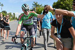 October 10, 2018 - Antalya, Turkey - Sam Bennett from Bora - Hansgrohe Team wins the second stage - the Sportoto 154.1km Alanya - Antalya, of the 54th Presidential Cycling Tour of Turkey 2018. .On Wednesday, October 10, 2018, in Antalya, Turkey. (Credit Image: © Artur Widak/NurPhoto via ZUMA Press)