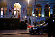 Gala pre-royal  wedding dinner held at the Mandarin Oriental Hyde Park. LONDON.  on April 28-DO NOT ARCHIVE-© Copyright Photograph by Dafydd Jones. 248 Clapham Rd. London SW9 0PZ. Tel 0207 820 0771. www.dafjones.com.