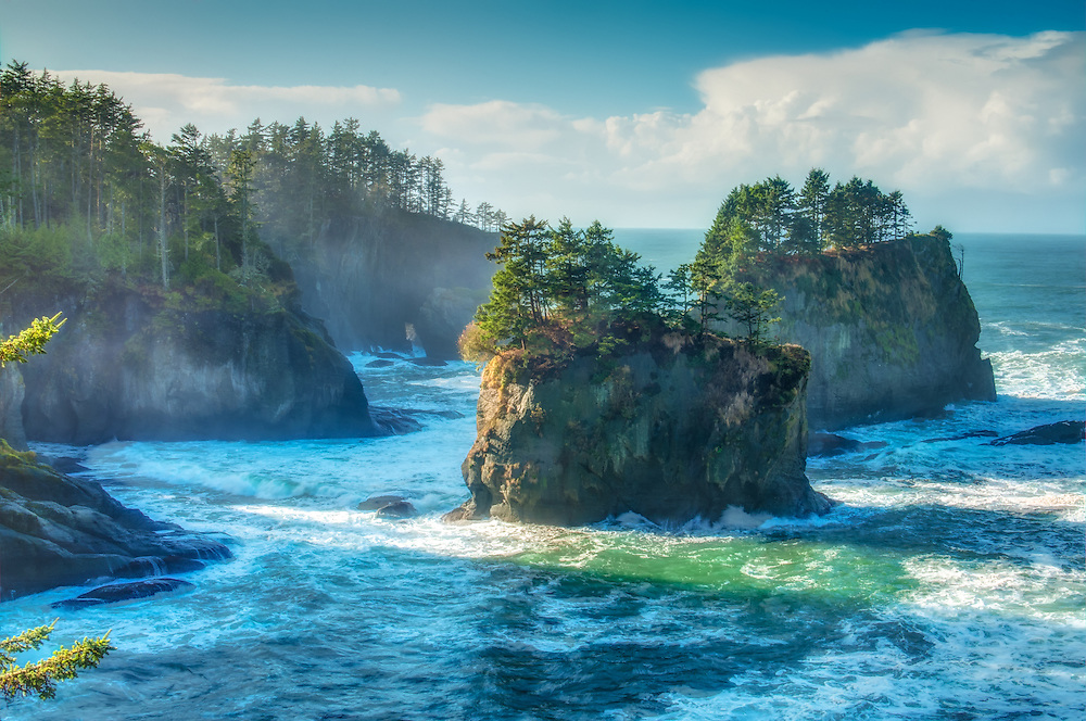 A breathtaking view of Cape Flattery and the Pacific Ocean in Washington's most extreme Northwest corner.
