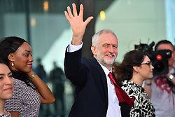 © Licensed to London News Pictures. 28/09/2016. Liverpool, UK. JEREMY CORBYN delivers his leaders speech at day four of the Labour Party Annual Conference, held at the ACC in Liverpool, Merseyside, UK. Photo credit: Ben Cawthra/LNP