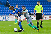 Football - 2019 / 2020 Championship - Cardiff City vs Blackburn Rovers<br /> <br /> Dion Sanderson of Cardiff City & Adam Armstrong Blackburn Rovers collide<br /> in a match played with no crowd due to Covid 19 coronavirus emergency regulations, at the almost empty Liberty Stadium.<br /> <br /> COLORSPORT/WINSTON BYNORTH