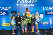 UK Open winner Michael van Gerwen during the Coral UK Open at Butlins, Minehead, United Kingdom on 6 March 2016. Photo by Shane Healey.