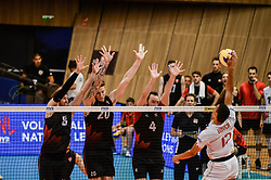 June 17, 2018 - Varna, Bulgaria - Stephen Boyer, France play the ball against Canada, during Mens Volleyball Nations League, VNL, match between France and Canada at Palace of Culture and Sport in Varna, Bulgaria on June 17, 2018  (Credit Image: © Hristo Rusev/NurPhoto via ZUMA Press)
