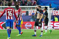 Kevin Kampl of Bayer 04 Leverkusen reacts during the match of Uefa Champions League between Atletico de Madrid and Bayer Leverkusen at Vicente Calderon Stadium  in Madrid, Spain. March 15, 2017. (ALTERPHOTOS / Rodrigo Jimenez)