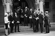 THE DUKE OF KENT; THE DUKE OF GLOUCESTER ( REAR ), Service of thanksgiving for  Lord Snowdon, St. Margaret's Westminster. London. 7 April 2017