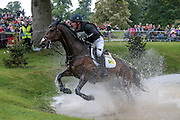 NOTE WORTHY ridden by bloody nosed Oliver Townend at Bramham International Horse Trials 2016 at  at Bramham Park, Bramham, United Kingdom on 11 June 2016. Photo by Mark P Doherty.