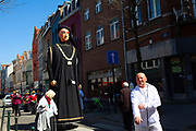Philip the Good - Philippe le Bon. Geants du quartier Bruegel, Brussels. Parade of giants on Rue Haute, Brussels