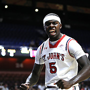 Durand Johnson, St. John's, celebrates after scoring a  basket during the St. John's vs South Carolina Men's College Basketball game in the Hall of Fame Shootout Tournament at Mohegan Sun Arena, Uncasville, Connecticut, USA. 22nd December 2015. Photo Tim Clayton