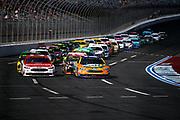 September 28-30, 2018. Charlotte Motorspeedway, ROVAL400: Restart 21 Paul Menard, Motorcraft/QuickLane, Ford, Wood Brothers Racing, 17 Ricky Stenhouse Jr. SunnyD, Ford, Roush Fenway Racing