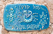 Israel, Jaffa, Ceramic Cancer Zodiac street sign