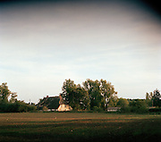 Farmhouses at Bobbin on the island of Rugen, northern Germany