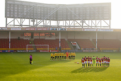 Bristol Rovers and Walsall respect a moments silence for remembrance day - Mandatory by-line: Robbie Stephenson/JMP - 07/11/2020 - FOOTBALL - Banks's Stadium - Walsall, England - Walsall v Bristol Rovers - Emirates FA Cup First Round