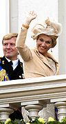 """Prinsjesdag 2007 in The Hague. <br /> <br /> On the Photo:  Maxima en Willem Alexander  at the """"balcony Scene"""""""