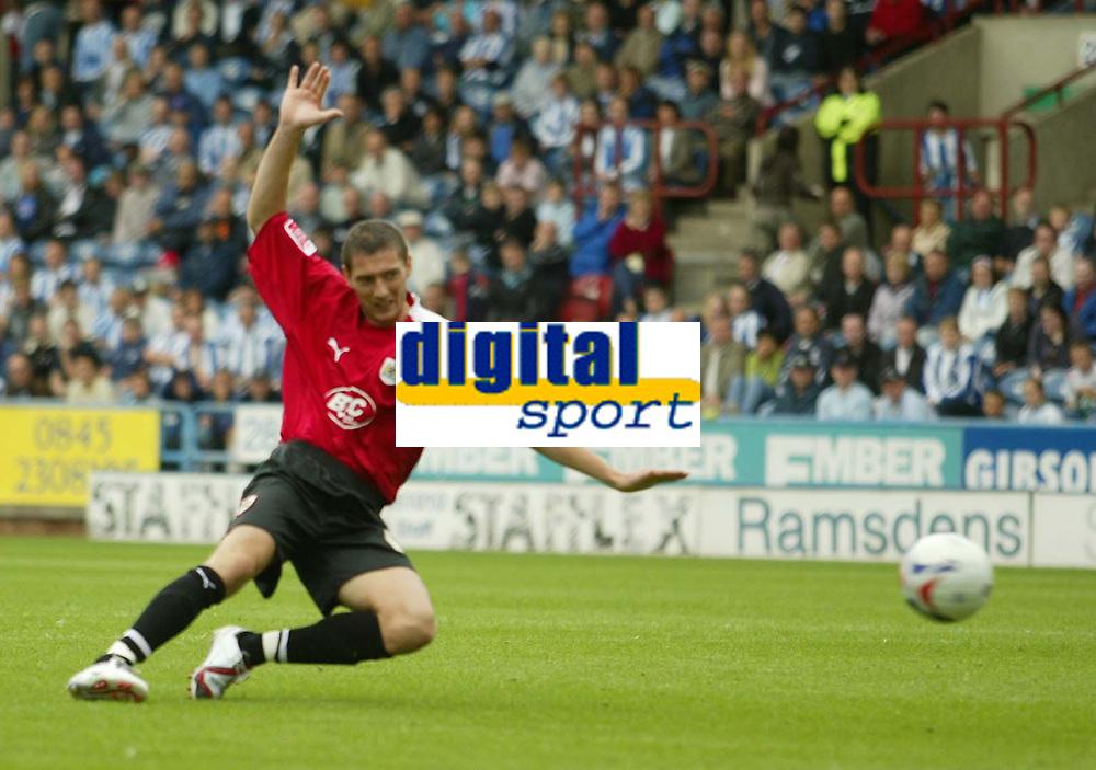 Photo: Aidan Ellis.<br /> Huddersfield Town v Bristol City. Coca Cola League 1. 12/08/2006.<br /> Bristol's Phil Jevons scores City's only goal
