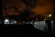 Obama Inauguration - Monday activities around the Capitol on Martin Luther King Jr. Day. Portable toilets on the National Mall at nightfall.