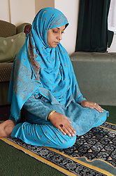 Woman praying,
