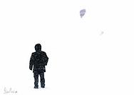 Kitesurf on a blizzard day