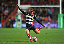 Billy Searle of Bristol Rugby kicks a conversion - Mandatory by-line: Paul Knight/JMP - 13/01/2017 - RUGBY - Ashton Gate - Bristol, England - Bristol Rugby v Bath Rugby - European Challenge Cup