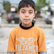 Halid 11 years old from Iraq in Kara Tepe camp in Lesvos, Greece