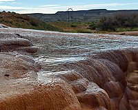 Travertine Pools -- Runoff from Crystal Geyser into the Green River. Image taken with a Nikon D4 camera and 24-70 mm f/2.8 lens.