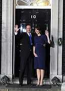 © under license to London News Pictures. 11/05/10. David Cameron and his wife Samantha on the steps of Number 10 Downing Street. British Prime Minister Gordon Brown has resigned his position and David Cameron has become the new British Prime Minister on May 11, 2010. The Conservative and Liberal Democrats are to form a coalition government after five days of negotiation. Photo credit should read Stephen Simpson/LNP