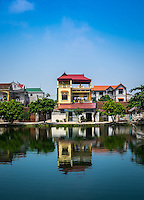 DINH TO, VIETNAM - CIRCA SEPTEMBER 2014: Dinh To village, in the Vietnamese Countryside