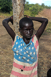 More than 300,000 South Sudanese refugees have fled from the country's civil war into Uganda since fighting broke out in July. They mostly travel by foot for days through the bush as roads have been blocked or are too dangerous to cross. The massive influx of refugees has caused a strain in humanitarian aid due to large numbers and lack of funding. BidiBidi settlement is now the third largest in the world and holds more than 210,000 people since its opening in September.